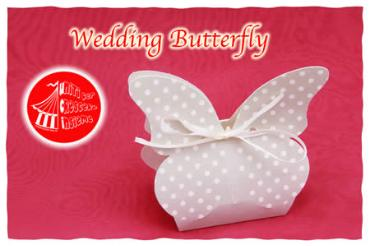Portaconfetti Wedding butterfly